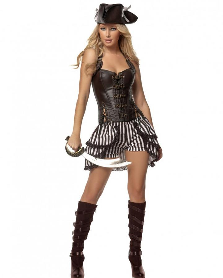 Steampunk Pirate Deluxe Womens Costume