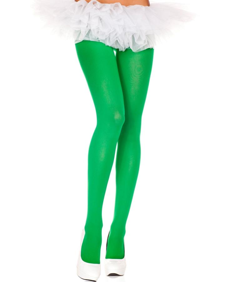 Kelly Green Opaque Plus Size Tights