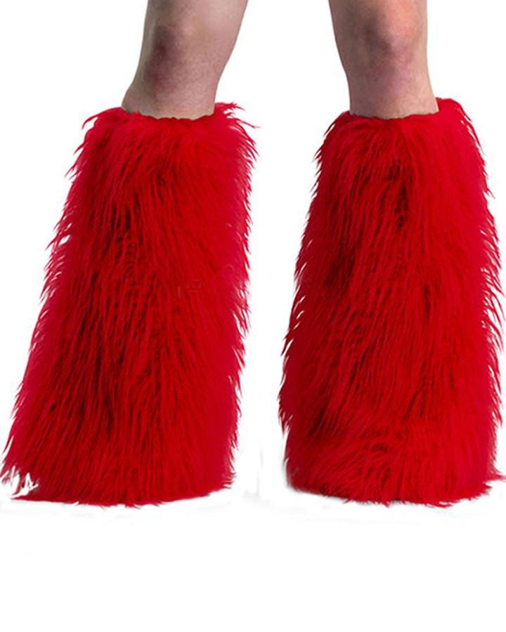 Red Yeti Faux Fur Boot Sleeves