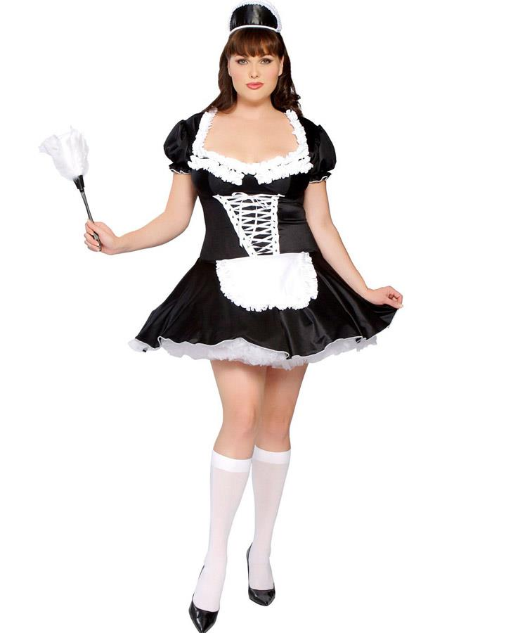 French Maid Womens Plus Size Costume