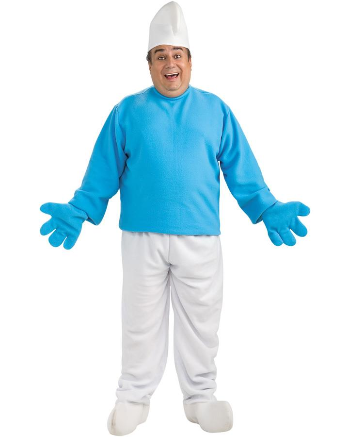Deluxe Smurf Mens Plus Size Costume