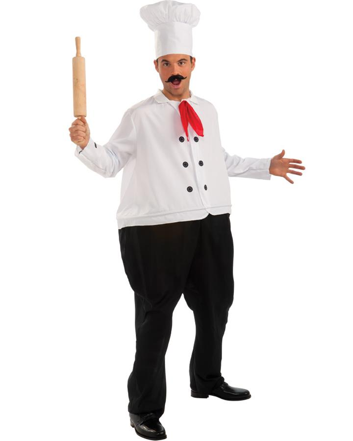 Fat Chef Mens Costume