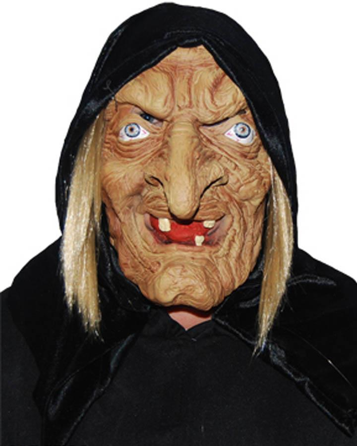 Wicked Witch Rubber Mask with Hood