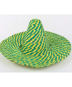 Zig Zag Mexican Hat Green and Gold