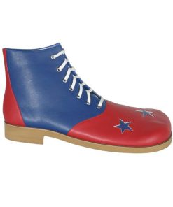 Yellow and Blue Jumbo Clown Adult Shoes