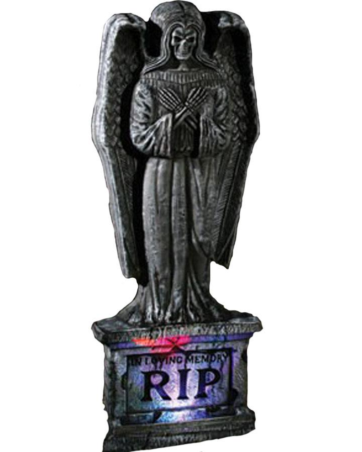 24 Inch Angel Light Up Gothic Tombstone