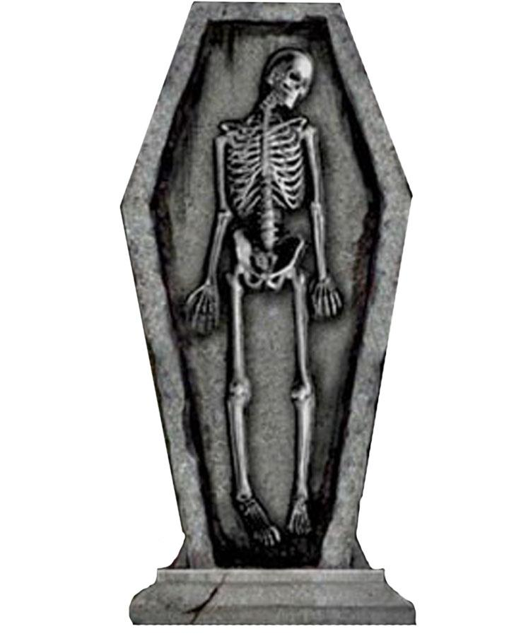 24 Inch Light Up Skeleton Gothic Tombstone