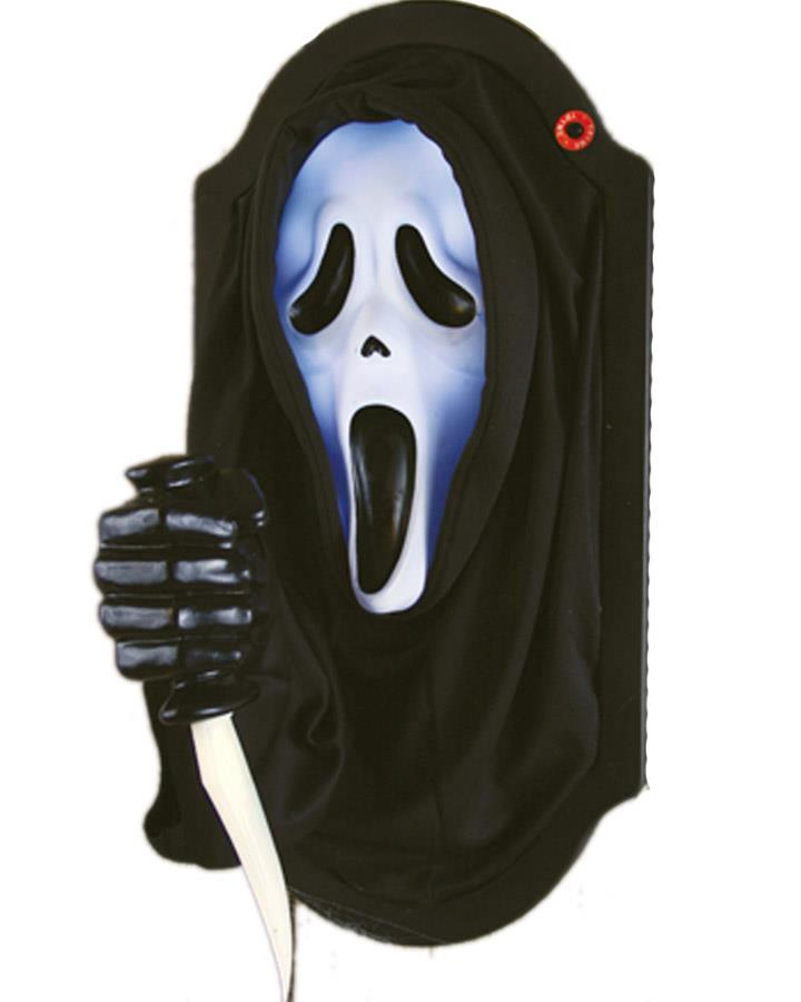 Scream Pop Out Animated Ghost Face with Knife