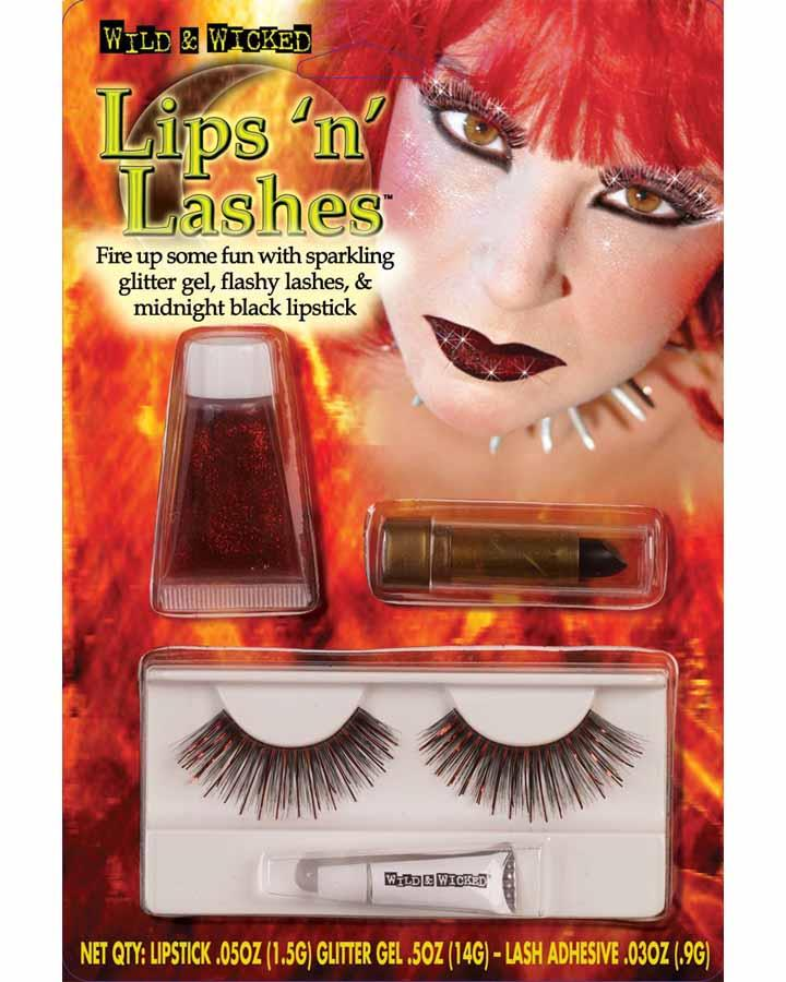 Lips and Lashes Red