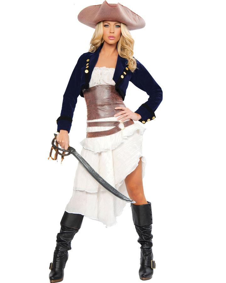 Colonial Pirate Deluxe Womens Costume