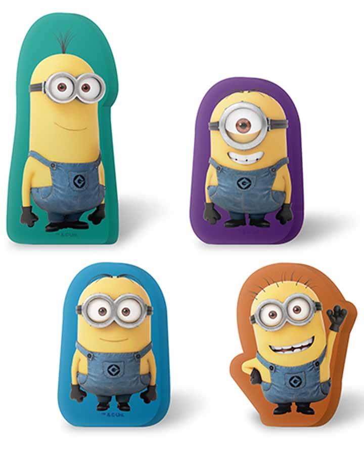Minions Erasers Pack of 4