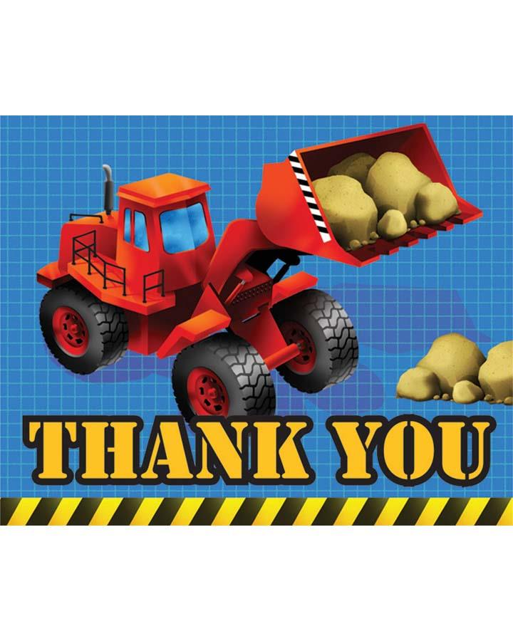 Under Construction Thank You Cards Pack of 8