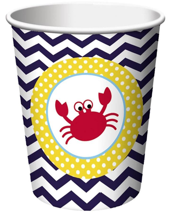 Ahoy Matey 266ml Party Cups Pack of 8