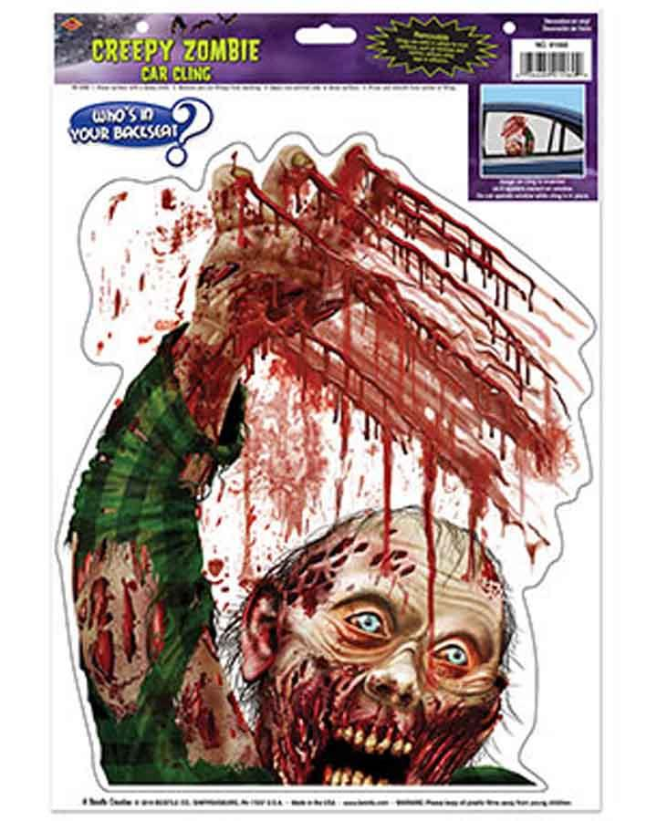 Zombie Backseat Car Cling