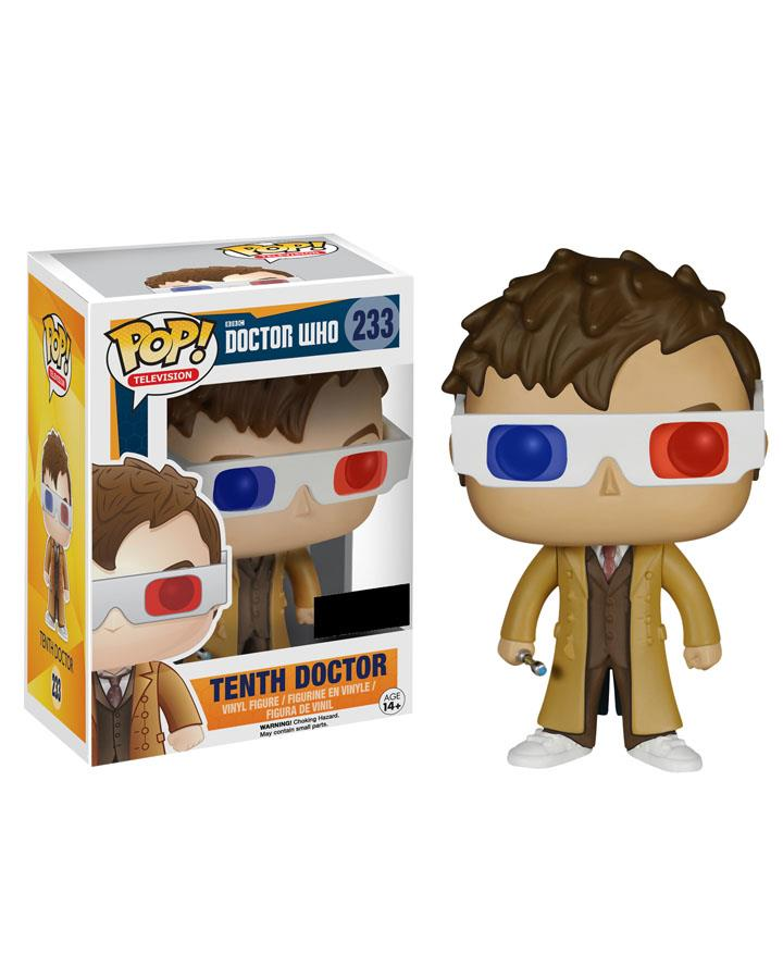 10th Doctor Who Pop Vinyl Figure with 3D Glasses