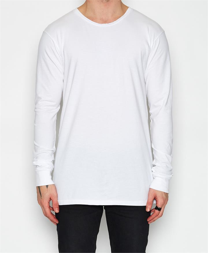 Basic Long Sleeve T-Shirt White