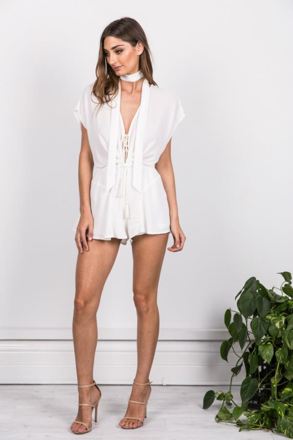 Kenzie Playsuit White