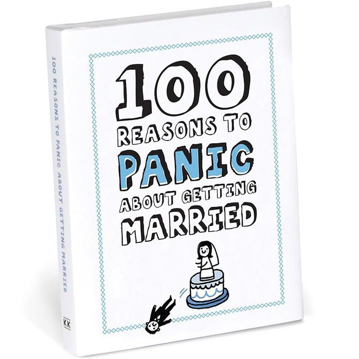 100 Reasons to Panic About Getting Married Mini Book Funny Joke Kitsch Gift