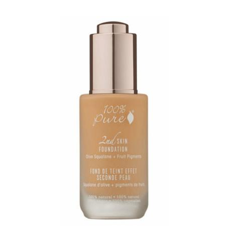 100% Pure 2nd Skin Foundation with Olive Squalane + Fruit Pigments: Golden Peach - 35ml