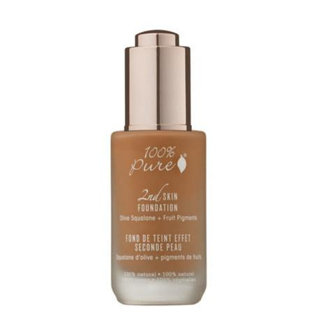 100% Pure 2nd Skin Foundation with Olive Squalane + Fruit Pigments: Toffee - 130ml