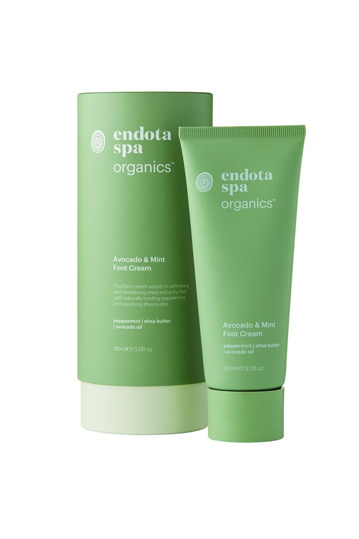 Endota Spa Organics Avocado and Mint Foot Cream 90ml
