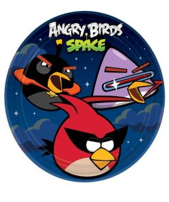 Angry Birds 9 Inch Space Party Plates