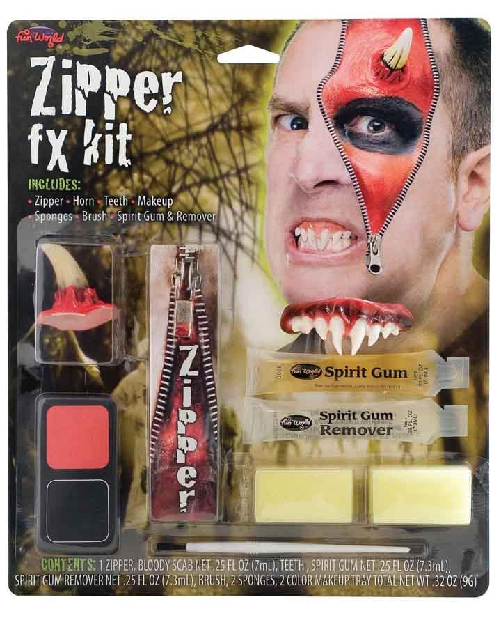 Devil Zipper Character Make Up Kit