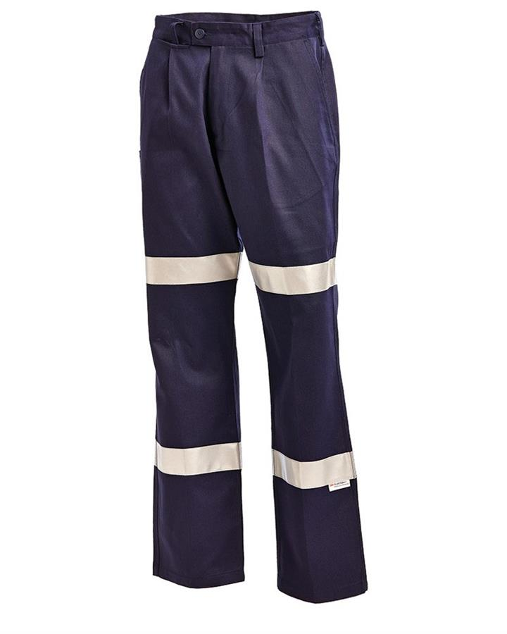 Workit Cotton Drill Double Hooped Taped Pants