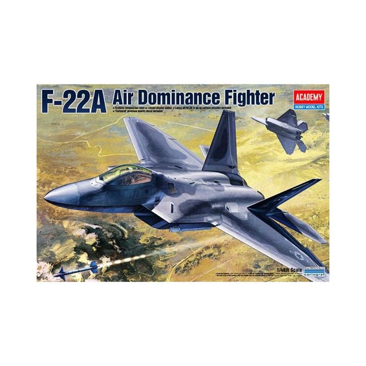 Academy 1/48 Air Dominance Fighter F-22A Kit ACA-12212