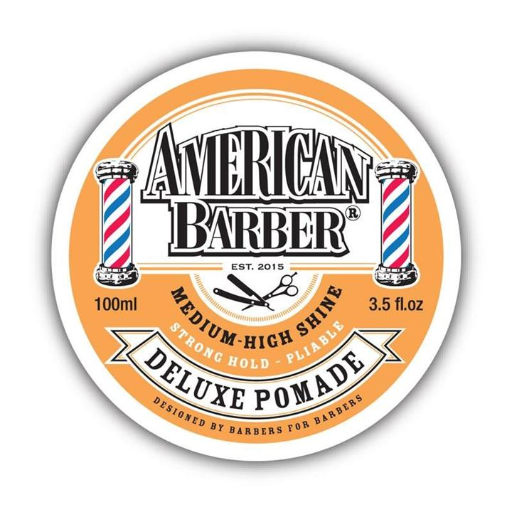 American Barber Medium to High Shine Strong Hold Deluxe Pomade 100ml