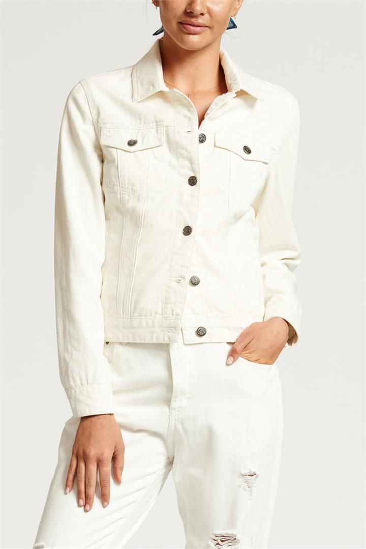 Bohemian Traders White Denim Jacket