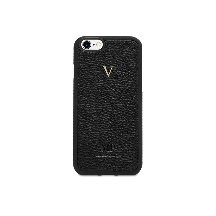 Grainy Leather iPhone 7 Rounded Case - Monogrammed iPhone 7 Rounded Case