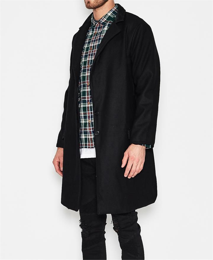 Draper Wool Coat Black