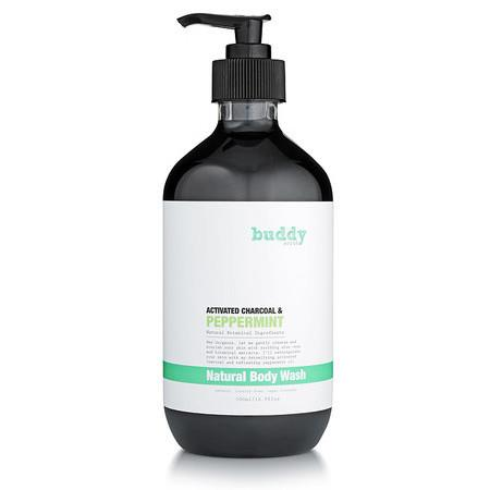 Buddy Scrub Activated Charcoal & Peppermint Body Wash - 500ml