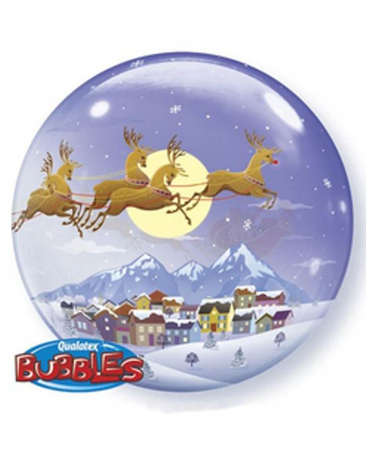 Visit from St Nick Bubble Balloon 56cm