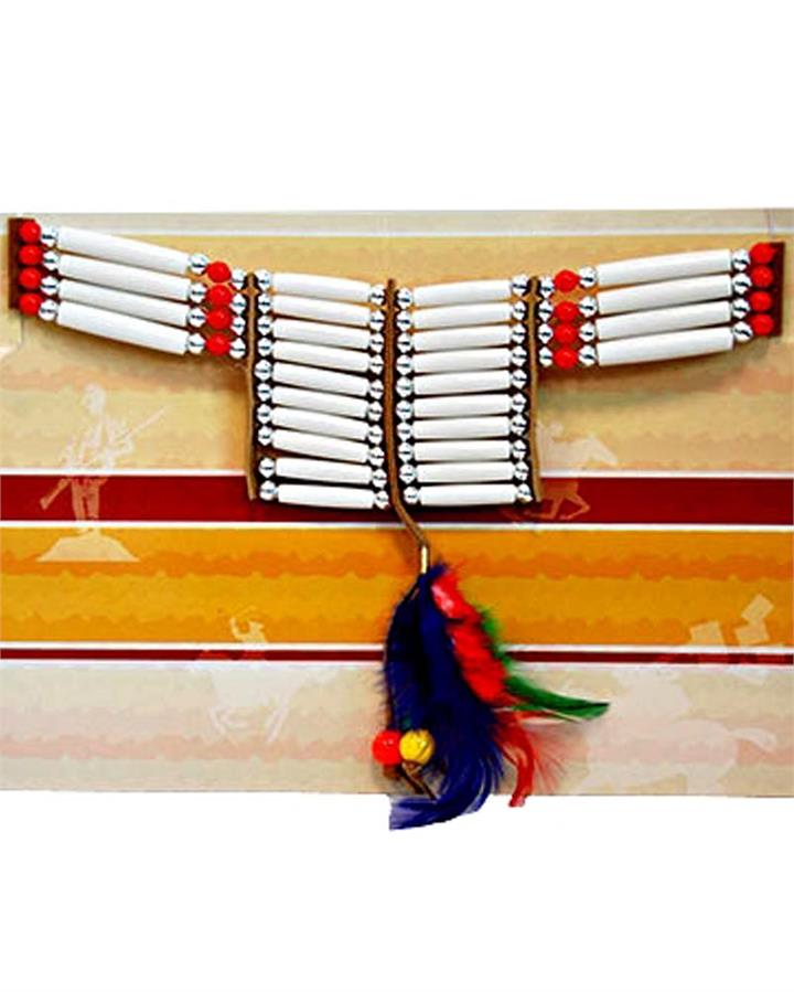 Indian Necklace with Feather