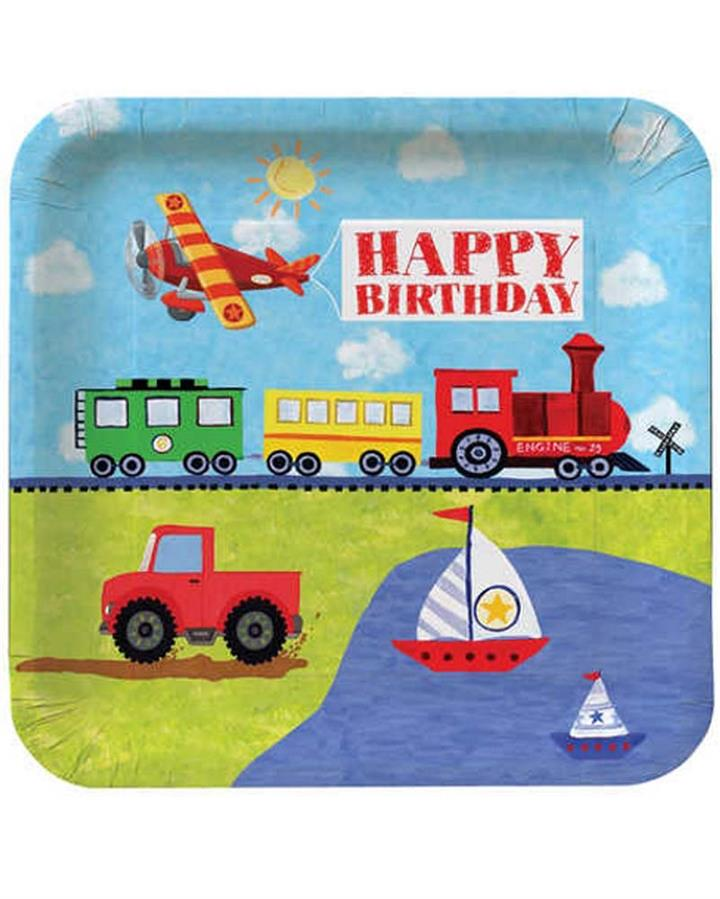 On The Go 23cm Party  Plates Pack of 8