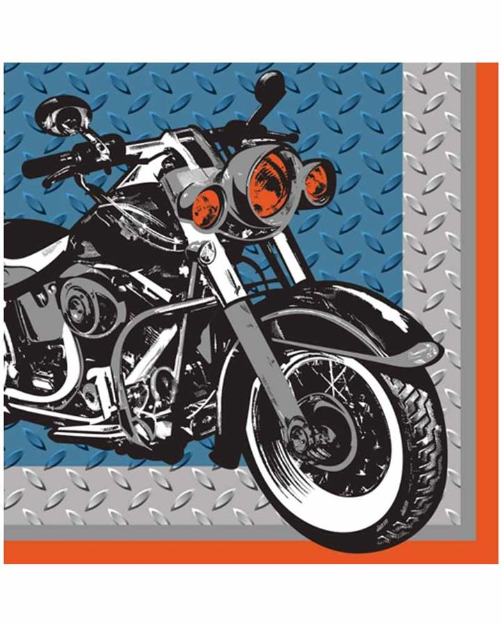 Cycle Shop Beverage Napkins Pack of 16