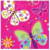 Butterfly Sparkle Lunch Napkins Pack of 16