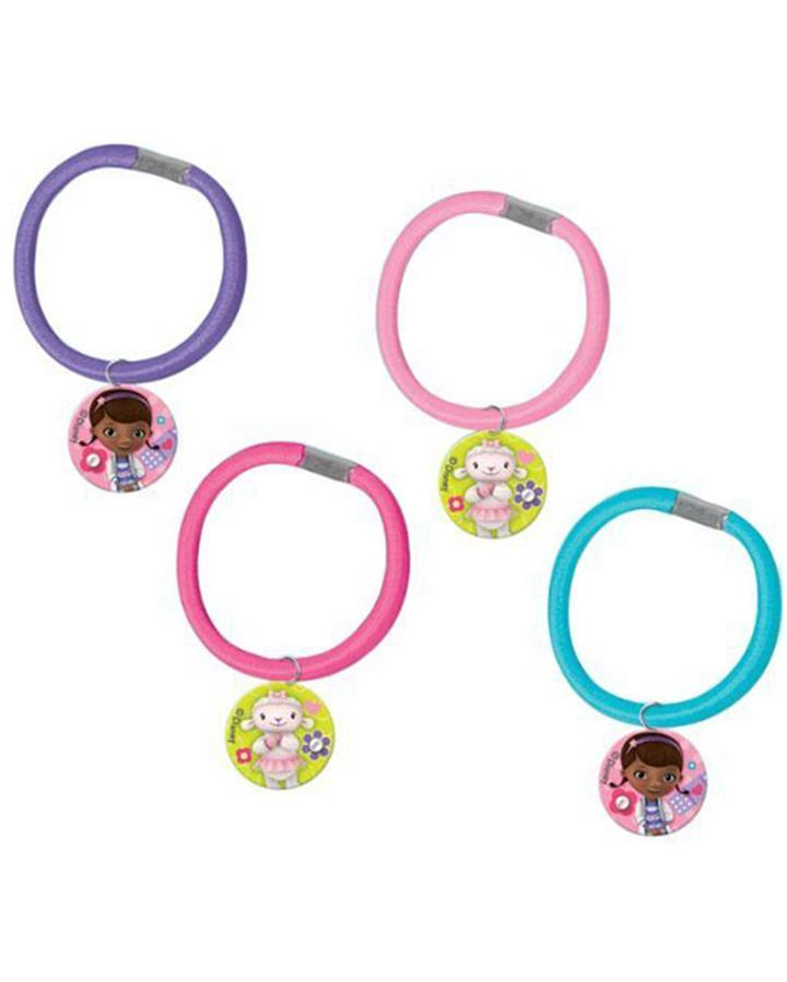 Doc McStuffins Hair Elastic Favours Pack of 4