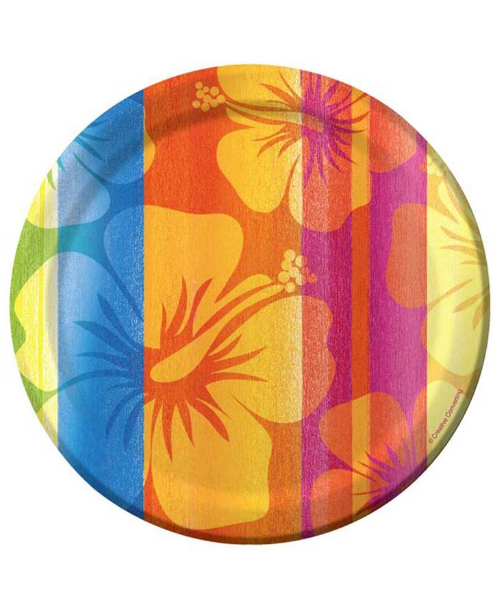Sunset Stripes 17cm Paper Plates Pack of 8
