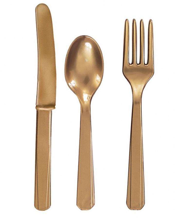 Gold Cutlery Set Pack of 24 for 8