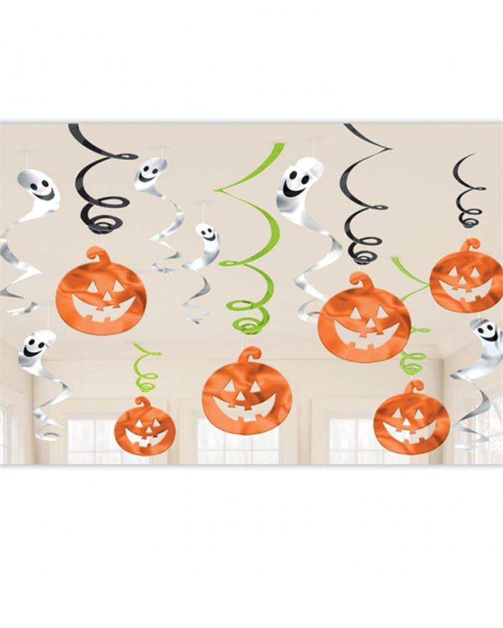 Friendly Halloween Swirl Decorations Pack of 12