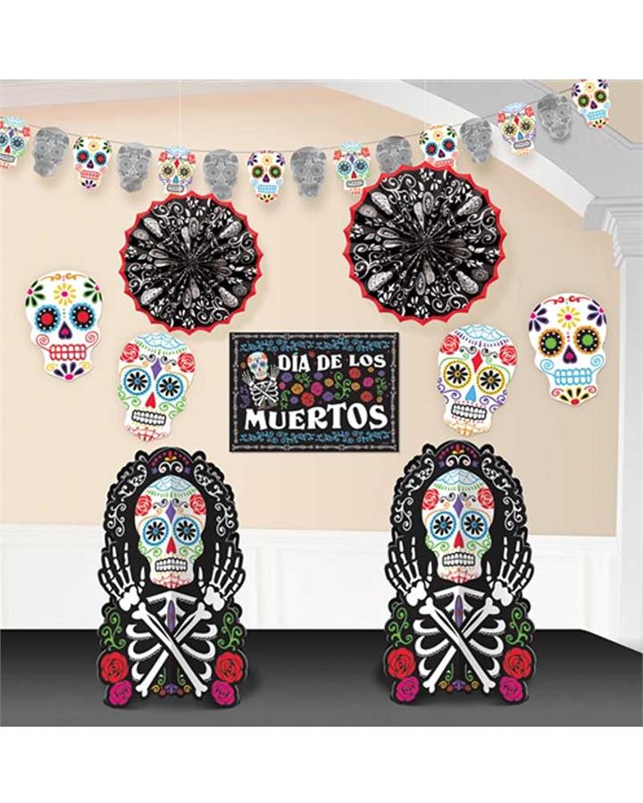 Day of the Dead Room Decorating Kit Pack of 10