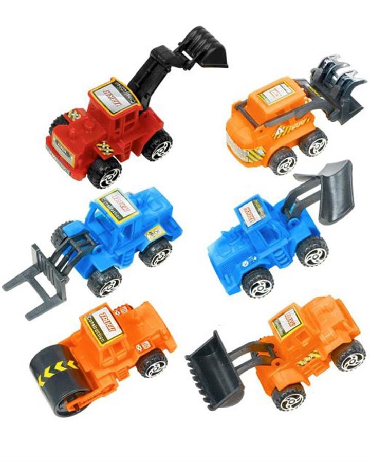 Construction Vehicle Party Favours Pack of 6