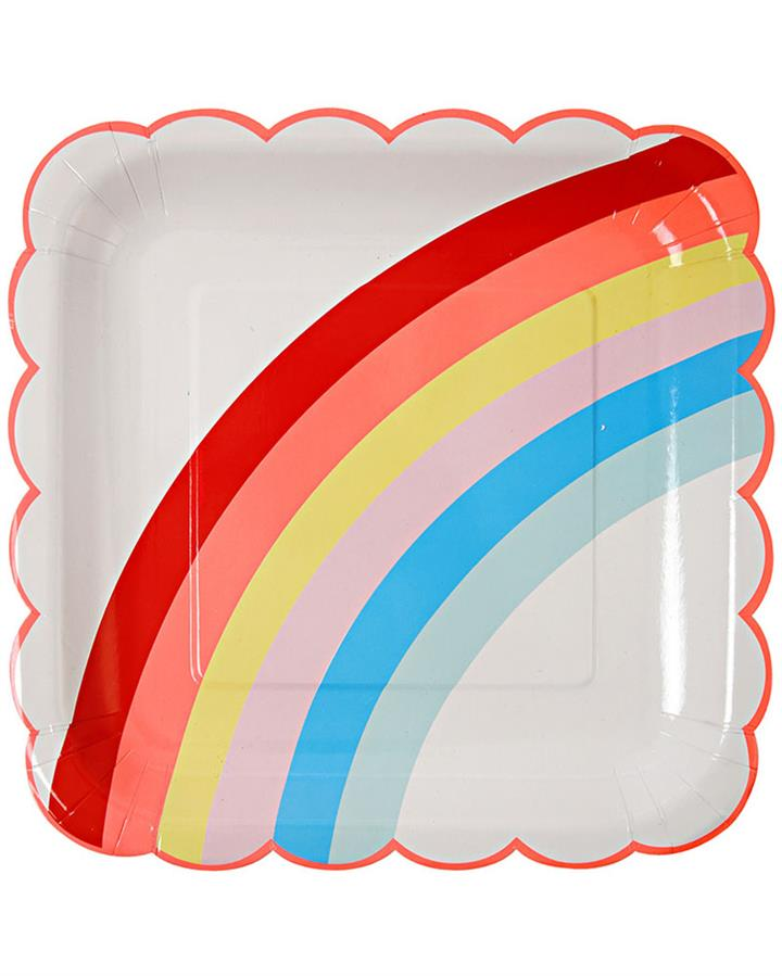 Rainbow 23cm Paper Plates Pack of 12