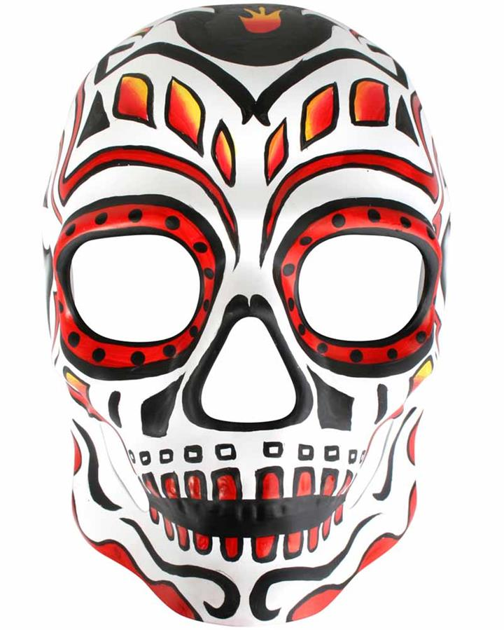 Day of the Dead Man on Fire Mask