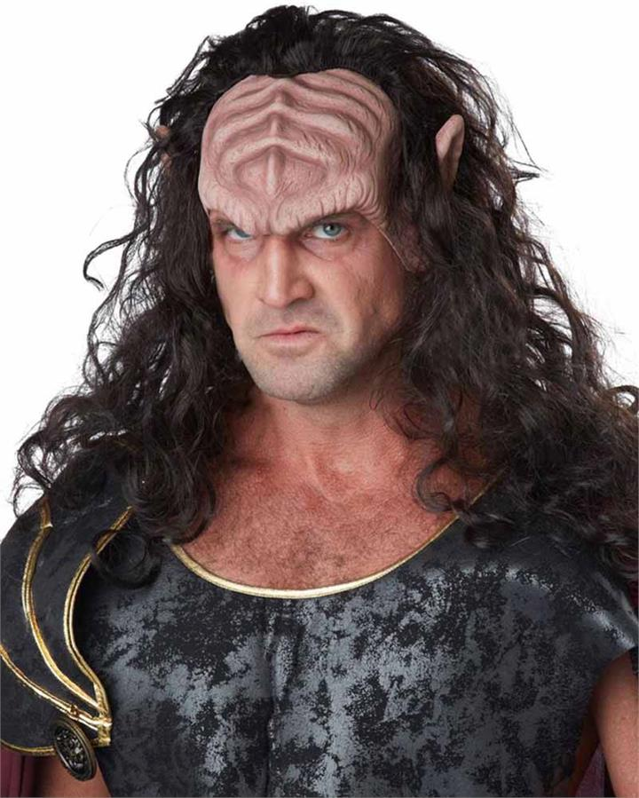Deep Space War Lord Half Mask with Hair