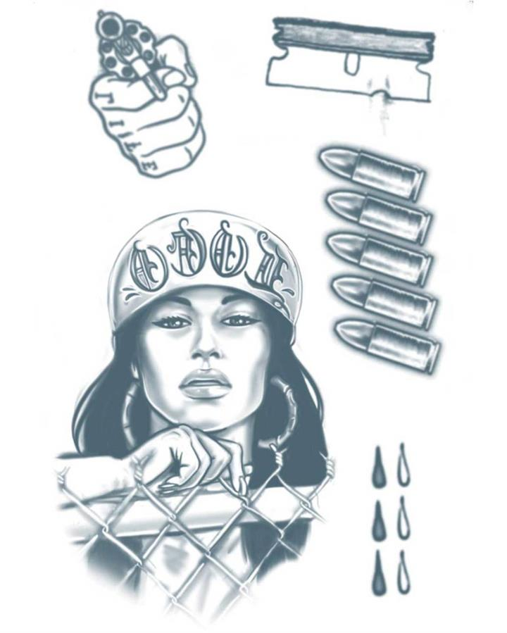 Prison 18 and Life Temporary Tattoo Kit