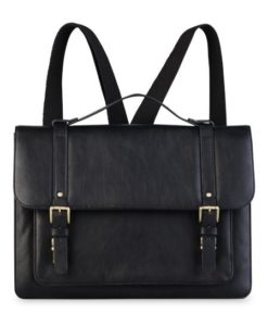 Combi leather bag Black